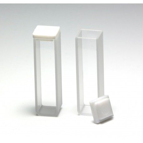 UV Quartz Cuvette, 10mm, 3.5mL, PTFE Cover, Pack of 2