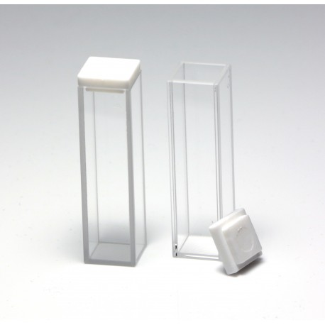 Fluorescence Quartz Cuvette, 10mm, 3.5mL, PTFE Cover, Pack of 2