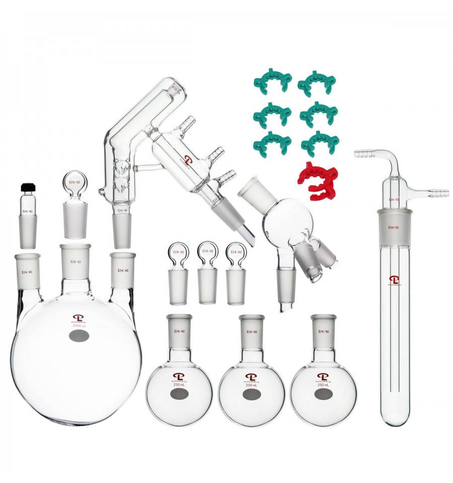 complete set of short path distillation apparatus  with 2000ml 3