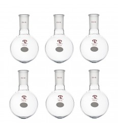 250mL 24/40 Single Neck Round Bottom Flask, pk of 6