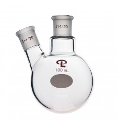 100mL  14/20  Angled  Two Neck Flask