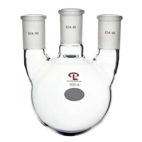 500mL  24/40  Vertical  Three Neck Flask