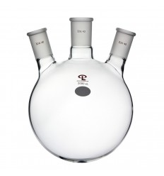 2000mL Side 24/40 Center 29/42 Angled Three Neck Flask