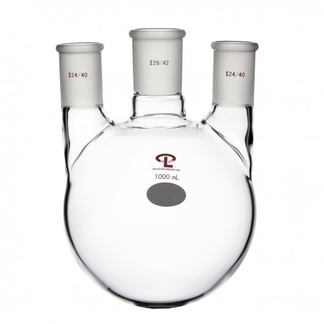 1000mL  side 24/40  center 29/42  Vertical  Three Neck Flask