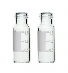 2 mL Clear Vials, 9-425 Screw-Thread, Graduated Write-on Spot, Pack of 100