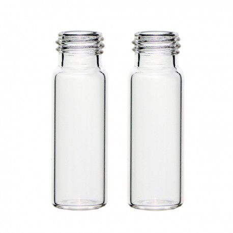 4 mL Clear Vials, 13-425 Screw-Thread, Pack of 100